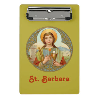 St. Barbara (BK 001) Mini Clipboard