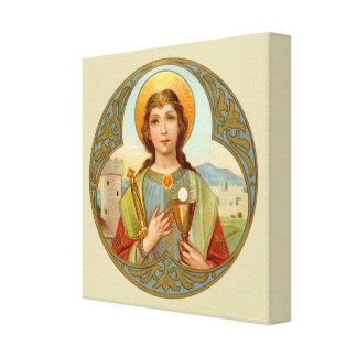 St. Barbara (BK 001) Square Canvas Print
