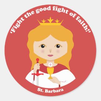 St. Barbara Classic Round Sticker