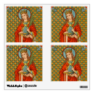 """St. Barbara (JP 01) 12""""x12"""" 4-Up Square Wall Decal"""