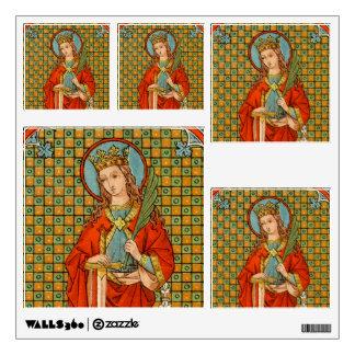 """St. Barbara (JP 01) 12""""x12"""" 5-Up Vari Wall Sticker"""