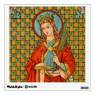 "St. Barbara (JP 01) 12""x12"" Square Wall Decal"