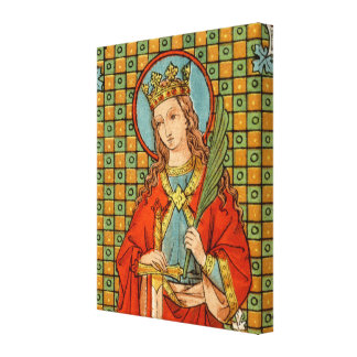 "St. Barbara  (JP 01) 16""x20""x1.5"" Canvas Print"