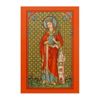 "St. Barbara (JP 01) 20""x30"" Acrylic Print"