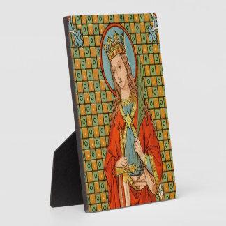 "St. Barbara (JP 01) 5.25""x5.25"" Plaque"