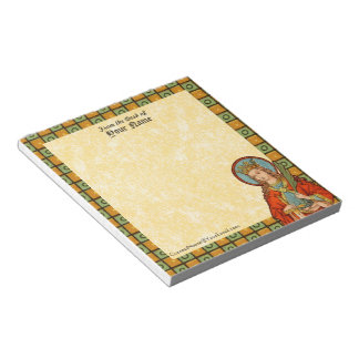 "St. Barbara (JP 01) 5.5""x6"" Vertical Notepad"