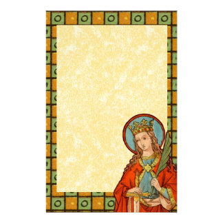 "St. Barbara (JP 01) 5.5""x8.5"" Vertical #1b Stationery"