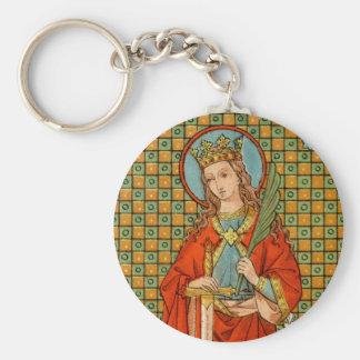 St. Barbara (JP 01) Basic Button Keychain