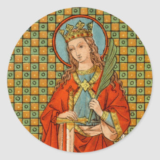St. Barbara (JP 01) Classic Round Sticker