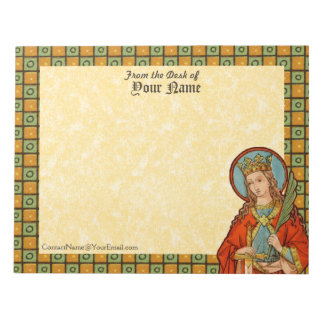 "St. Barbara (JP 01) Horizontal 8.5""x11"" Notepad"