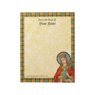 "St. Barbara (JP 01) Vertical 8.5""x11"" Notepad"