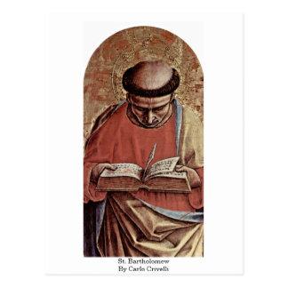 St. Bartholomew By Carlo Crivelli Postcard