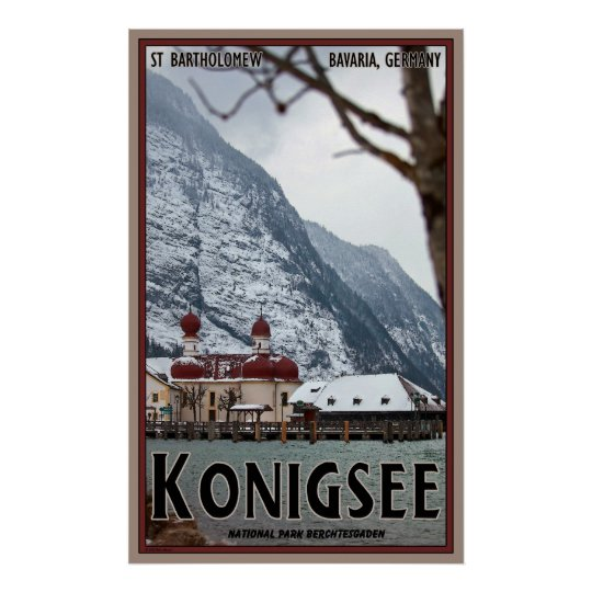 St. Bartholomew Cathedral on the Konigsee Poster