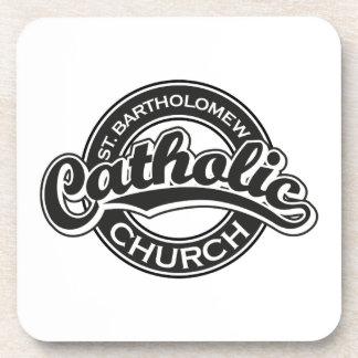 St. Bartholomew Catholic Church Black Beverage Coaster