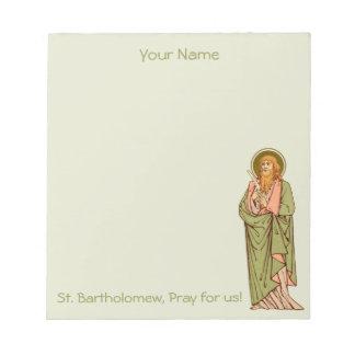 """St. Bartholomew the Apostle (RLS 03) 5.5""""x6"""" Notepad"""
