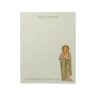 """St. Bartholomew the Apostle (RLS 03) 8.5""""x11"""" Notepad"""
