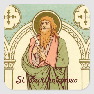St. Bartholomew the Apostle (RLS 03) Square Sticker