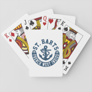St. Barts French West Indies Playing Cards