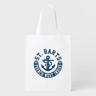 St. Barts French West Indies Reusable Grocery Bags