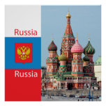 St. Basil cathedral. Russia Posters