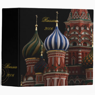 St Basil Moscow Russia Scrapbook Photo Album Vinyl Binder