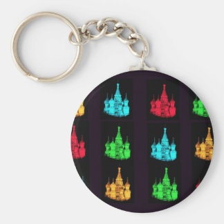 St. Basil's Cathedral Collage Keychains