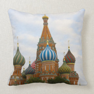 St. Basil's Cathedral in Red Square, Moscow Throw Pillow