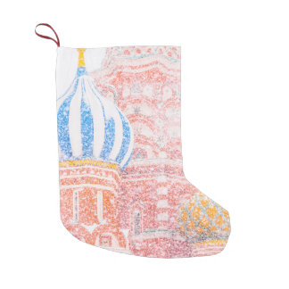 St Basil's Cathedral In Snowstorm Small Christmas Stocking