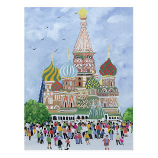 St. Basil's Cathedral Red Square 1995 Postcard