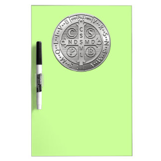St Benedict Cross Medal Dry Erase Board