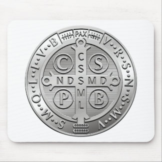 St Benedict Cross Medal Mouse Pad
