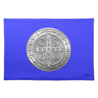 St Benedict Cross Medal Placemat