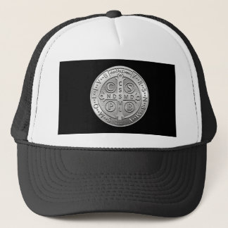 St Benedict Cross Medal Trucker Hat