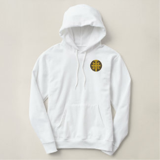 St Benedict exorcism medal Embroidered Hoodie