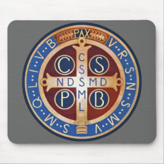St. Benedict Exorcism Medal Mouse Pad