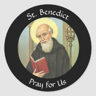 St. Benedict  Feast July 11 Classic Round Sticker