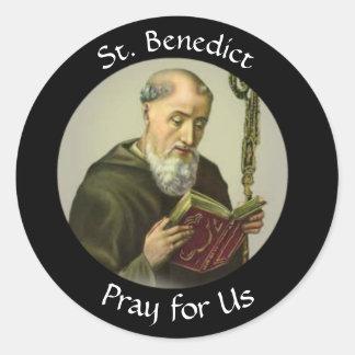St. Benedict  Feast July 11 Classic Round Sticker