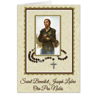 St. Benedict Joseph Labre Rosary Card