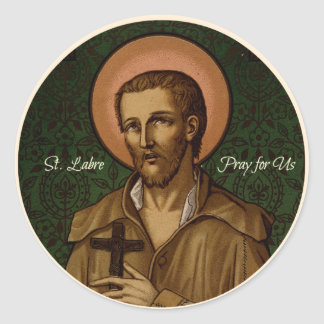 St. Benedict Labre Pray for Us Classic Round Sticker