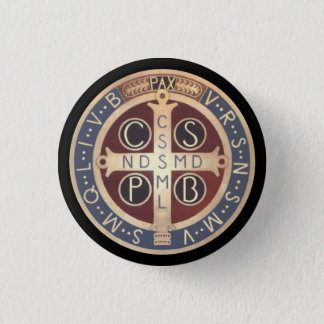St. Benedict Medal Buttons, All Sizes & Shapes 1 Inch Round Button