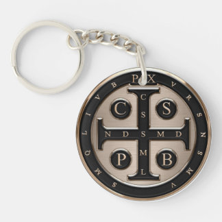 St. Benedict Medal Single-Sided Round Acrylic Keychain