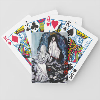 St Bernadette at the Grotto Bicycle Playing Cards