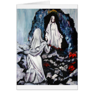 St Bernadette at the Grotto Card