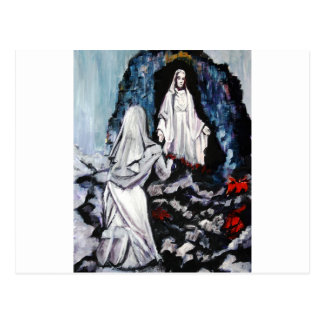 St Bernadette at the Grotto Postcard