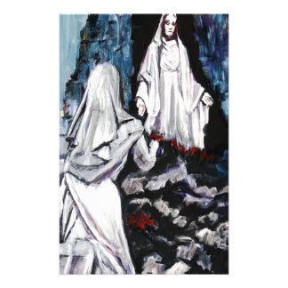St Bernadette at the Grotto Stationery Paper