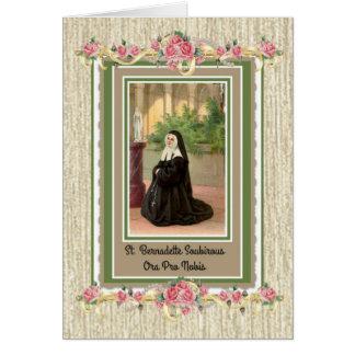 St. Bernadette Greeting Card w/prayer