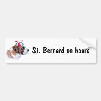 St Bernard à bord d'adhésif pour pare-chocs Adhésifs Pour Voiture