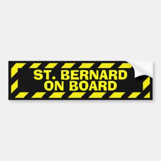 St Bernard à bord d'autocollant jaune de Autocollant De Voiture