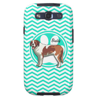 St Bernard Aqua Chevron vert Coque Galaxy S3