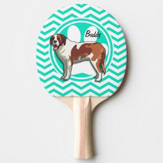 St Bernard Aqua Chevron vert Raquette Tennis De Table